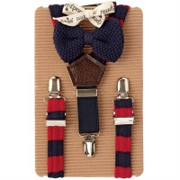 Baby Preppy Suspender-bowtie Set