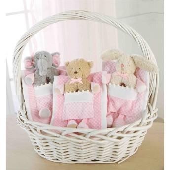 Baby Girl Rattle-burp Set