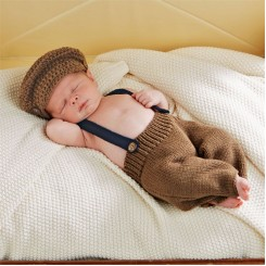 Baby Newborn Newsboy Set