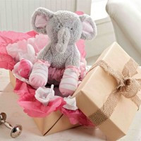 Baby Girl Plush Elephant Sock Set