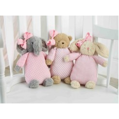 Baby Girl Plush Hairbow Set