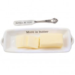 Witty Words - Butter Dish & Spreader