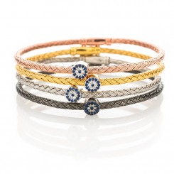 Fine & Fancy Cable Bracelet - Evil Eye