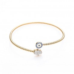 Fine & Fancy Cable Bracelet - Evil Eye & Hamsa