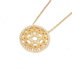Fine Silver - Golden Star Of David