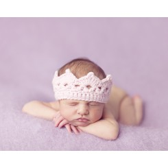 Baby Knit Regal Crown - Pink