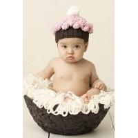 Baby Knit Cupcake Hat