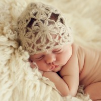 Baby Knit Mohair Hat With Trail
