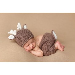 Baby Knit Deer Hat
