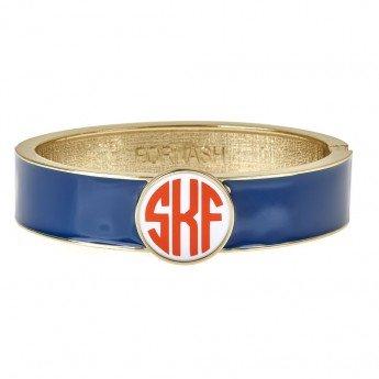 Monogram Hinged Bracelet