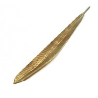 Artisan Long Leaf Tray - Gold