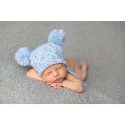 Baby Knit Cable Pompon Hat