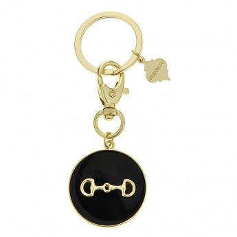 Monogram Horse Bit Keychain