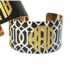 Monogram Greek Pattern Cuff