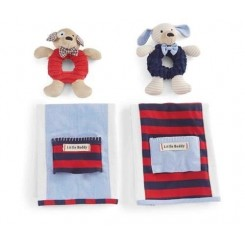 Baby Puppy Rattle-burp Set