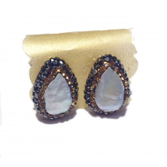 Native Gem Studs - Mother Of Pearl