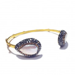 Native Gem Mother Of Pearl Bangle