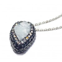 Native Gem Pendant - White Druzy