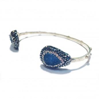 Native Gem Bangle - Blue Druzy