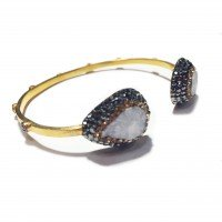 Native Gem Bangle - White Druzy