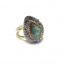 Native Gem Ring - Labradorite