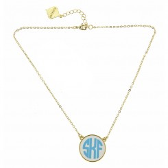 Monogram Large Colored Disc Pendant