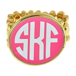 Monogram Stretch Ring