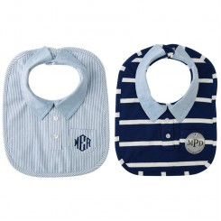 Baby Preppy Button-down Bib