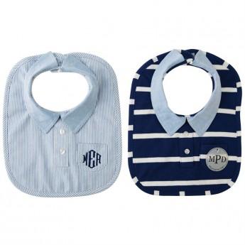 Baby Preppy Button-down Bib