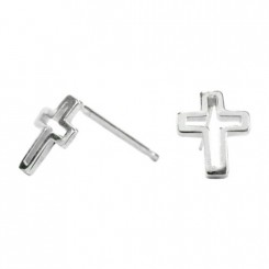 Fine Silver Earrings - Cross