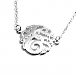 Fine Silver Monogram - 1 Letter Necklace