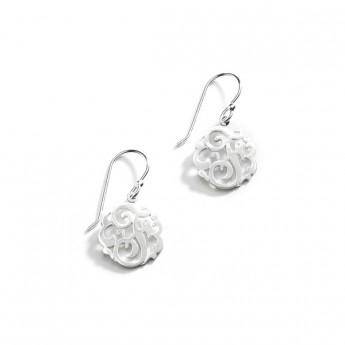 Fine Silver - One Letter Hook Earrings