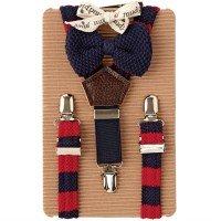 Baby Preppy Suspender-bowtie Set