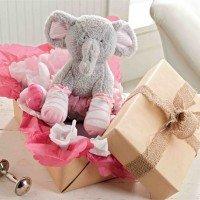 Baby Girl Plush Elephant Sock Set