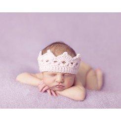 Baby Knit Regal Crown - Pink