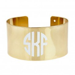 "Monogram ""say Anything"" Cuff"