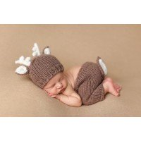 Baby Knit Deer Hat