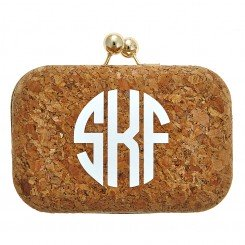 Monogram Cork Clutch