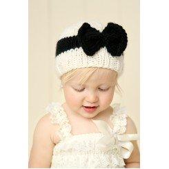 Baby Knit Fancy Bow Hat