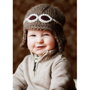Baby Knit Aviator Hat